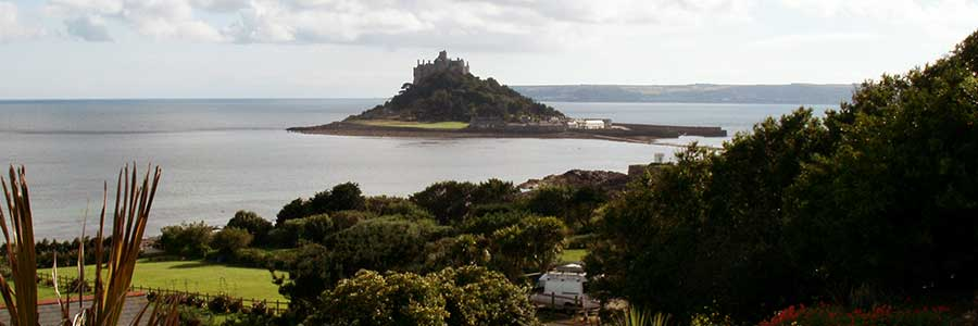 St Michael's Mount from Glenleigh Bed and Breakfast Marazion